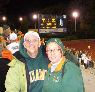 Dukeroach&wife_after_game