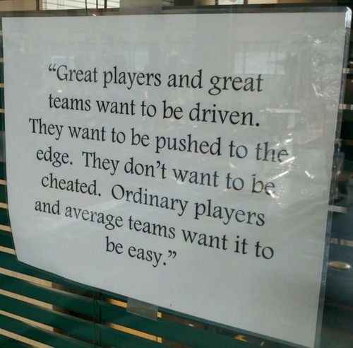 UM Lockeroom sign