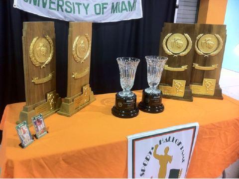 UM Baseball trophies